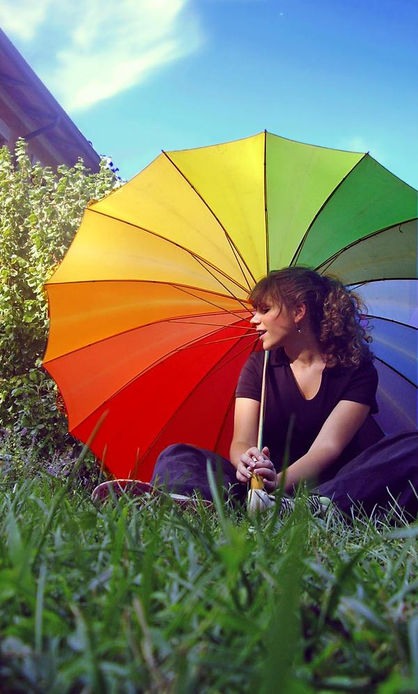 Rainbow Umbrella, por Smokedval-Stoc (DeviantArt)