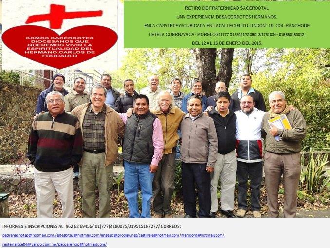 retiro fraternidad mexico enero 2015