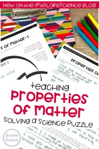 Teaching Properties of Matter: Solving A Science Puzzle
