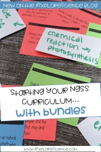 Bundling The NGSS: The First Step