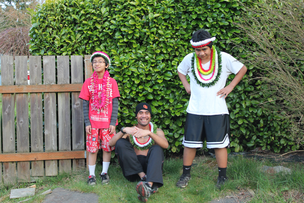 Ifalik PCVs in the state of Washington, from left, Cal, Ernest and Jun.  lol