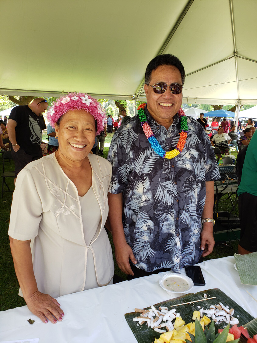 Chuuk Governor and wife