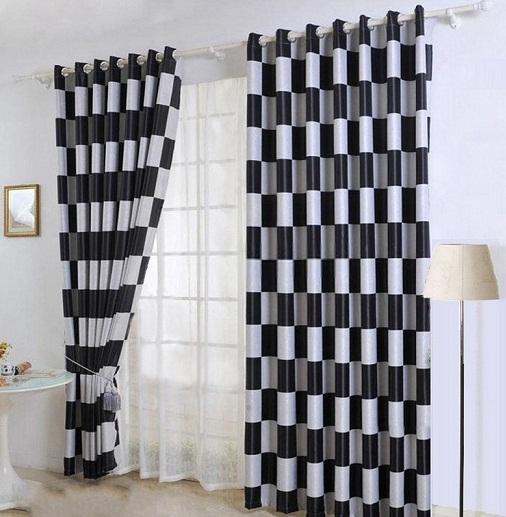 stylish black curtain designs