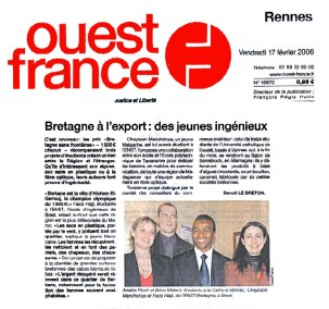 Article sur IFASSEN et le concours Bretagne sans frontières gagné par Faiza HAJJI