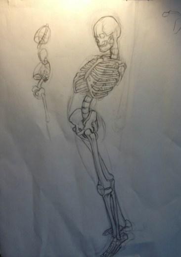 Skeleton Arched back