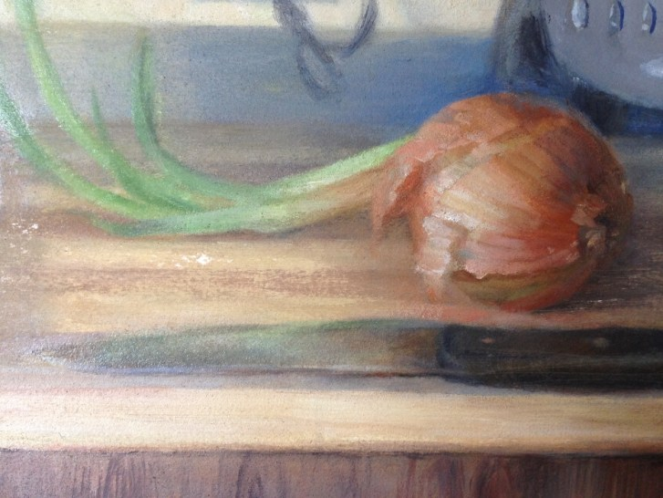 Discarded onion, detail