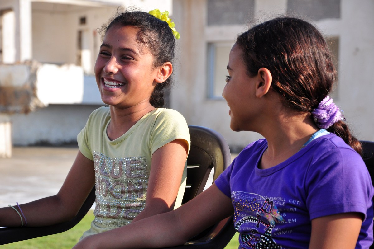 Children in Gaza Smiling
