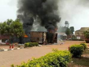 Image - fire burns election materials in Anambra