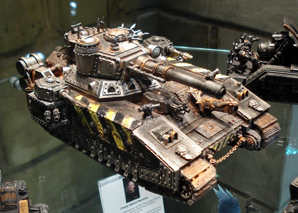 This is a rather good Iron Warriors Chaos BaneBlade that was on display in Warhammer World in Nottingham.