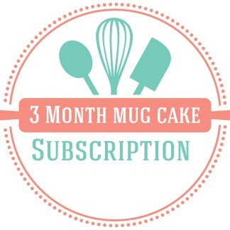 3 month mug cake baking subscription box