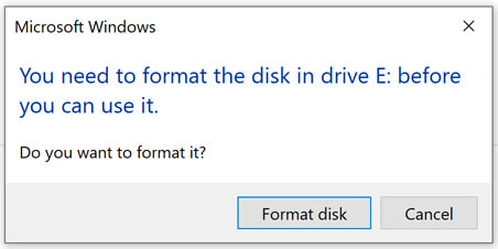 U-disk display requires formatting