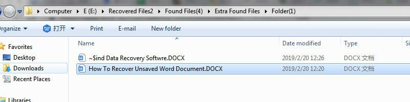 ifind word document recover result