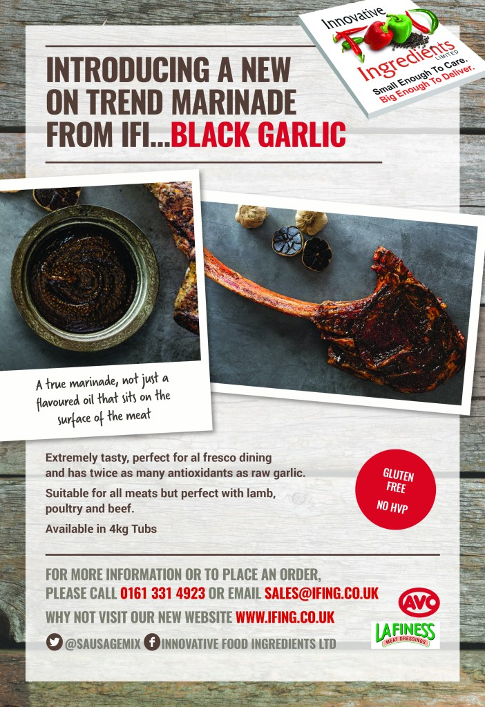 Introducing a new on trend marinade from IFI... Black Garlic