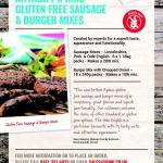 Arthur Pipkins Gluten Free Sausage Mixes and Burger Mixes