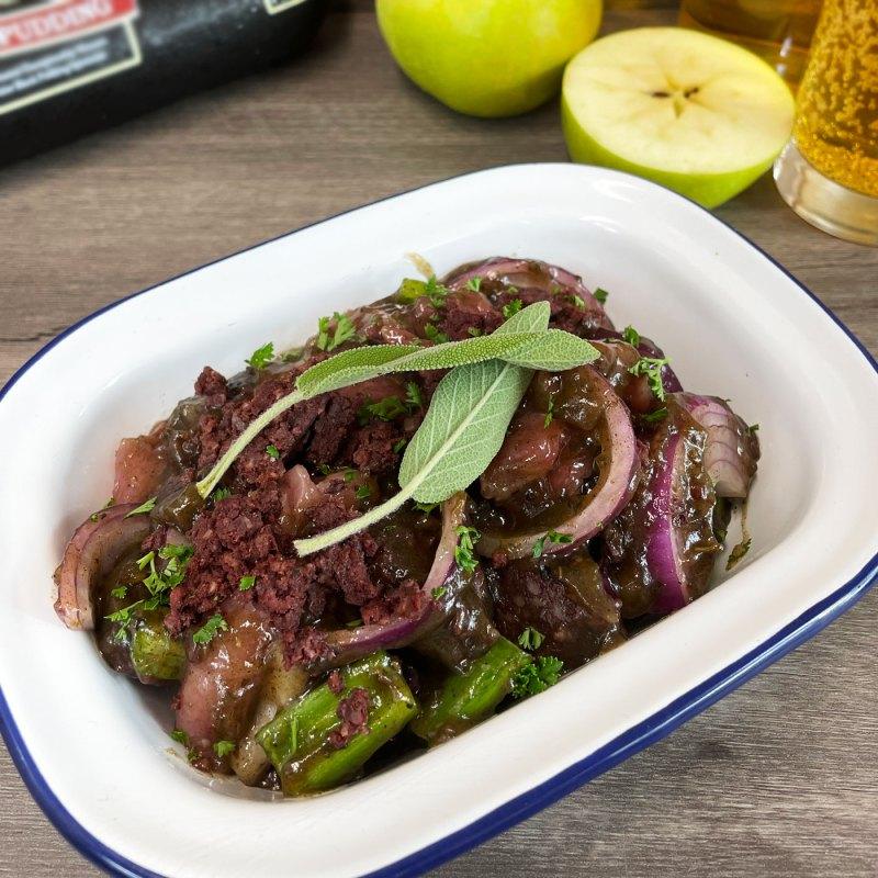 AVO Apple Cider and Sage Butchers' Sauce with Pork & Black Pudding