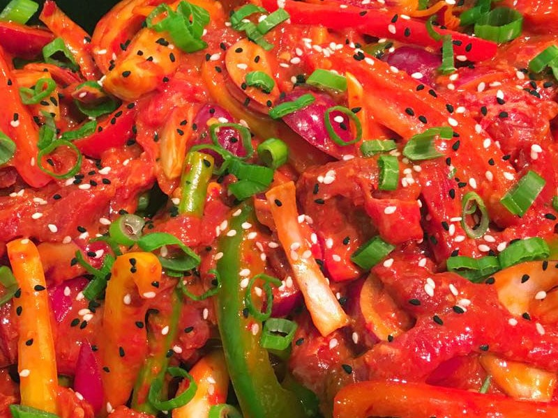 Sriracha Chilli Beef Stir Fry at Williams and Sons Butchers in Wadebridge
