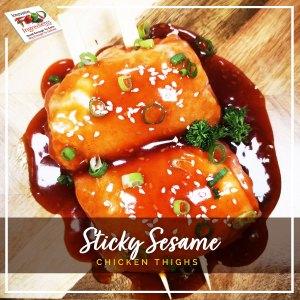 Sticky Sesame Chicken Thighs