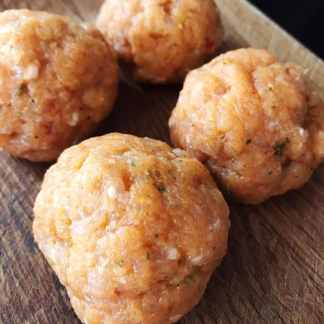 Meatballs made with Arthur Pipkins Premium Chicken Chilli and Lime Burger Mix