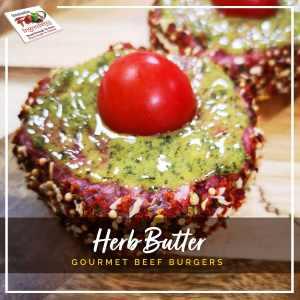 Herb Butter Gourmet Beef Burgers