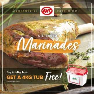 Marinades - Buy 4 x 4kg Tubs GET A 4KG TUB FREE