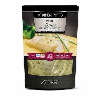 Atkins & Potts White Sauce with Parsley & Lemon Zest