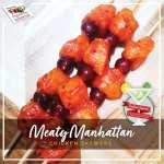 Cocktail Inspired: 'Meaty Manhattan' Chicken Skewers