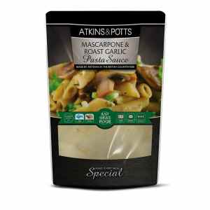 Atkins & Potts Mascarpone and Roast Garlic Pasta Sauce