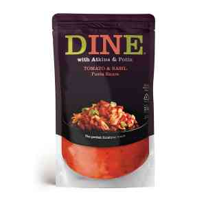 DINE IN with Atkins & Potts Tomato and Basil Pasta Sauce