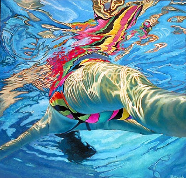Lorraine Shemesh: A Fabulous Collection Of Paintings Of People Swimming