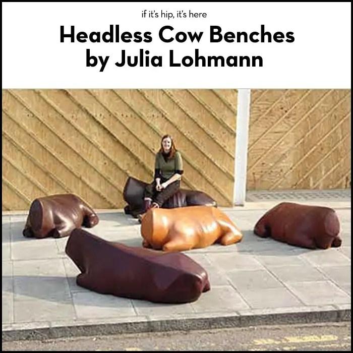 headless bovine benches