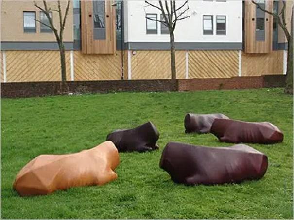 julia lohmann's bovine benches