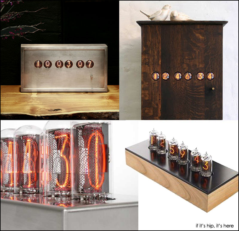 modern nixie tube clocks