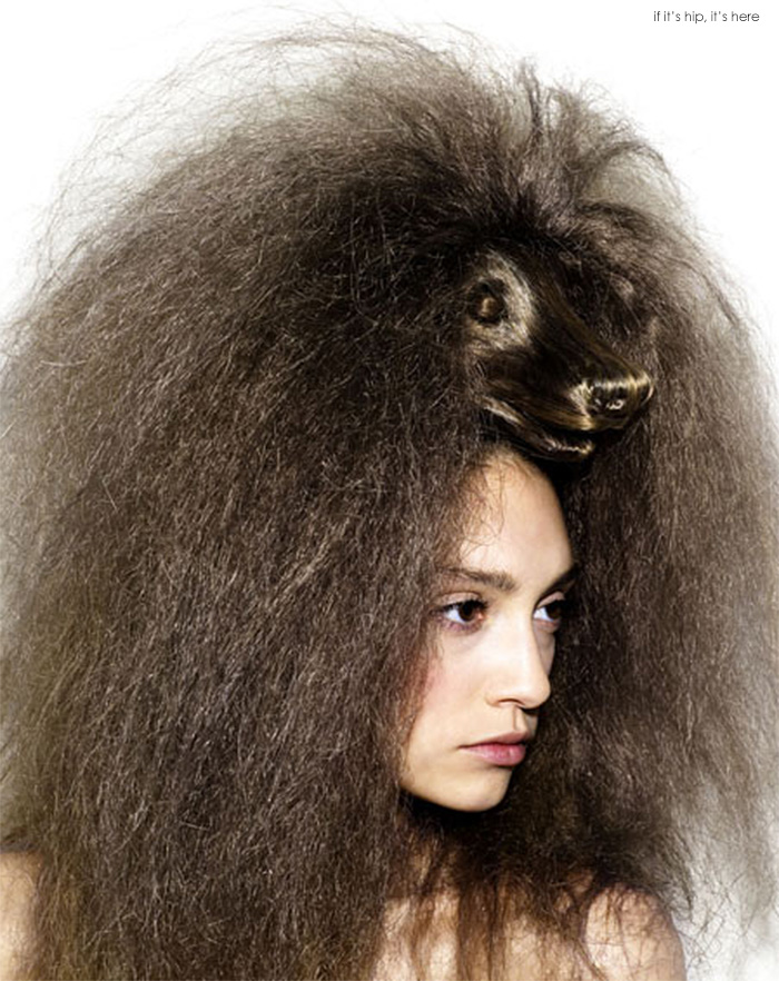animal wig fuzzy IIHIH 7