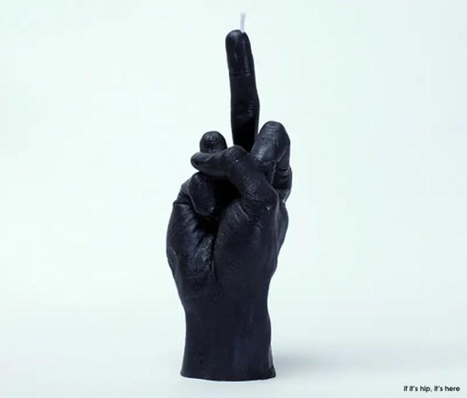 hand gesture candle the bird black IIHIH