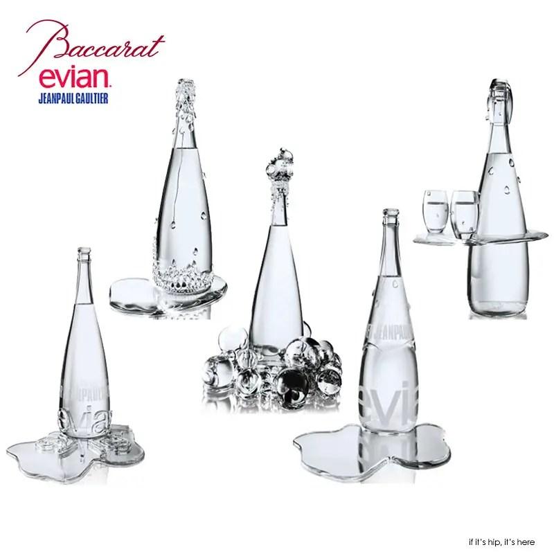 Baccarat   Jean Paul Gaultier s 5 Haute Couture Evian Bottles - if ... 52b374c12