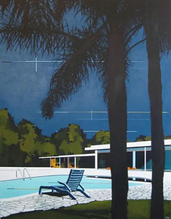 Night sky, South coast Palms and Modern Home by Paul Davies