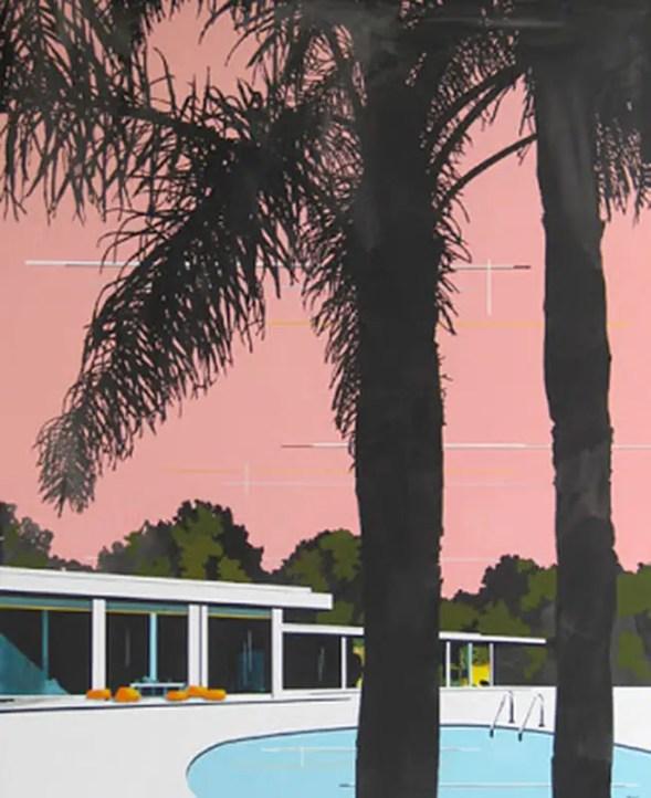Peach Sky and Modern Home by Paul Davies