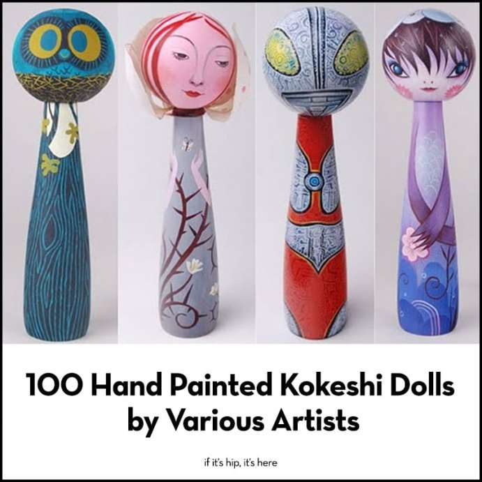 100 Kokeshi Dolls by Various Artists
