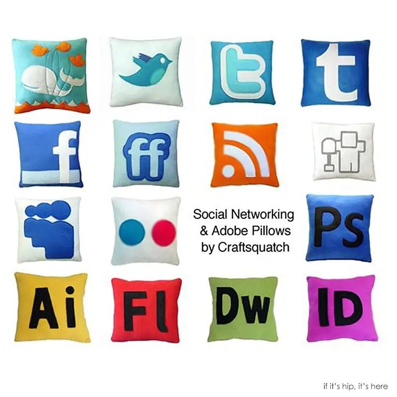 internet icon pillows