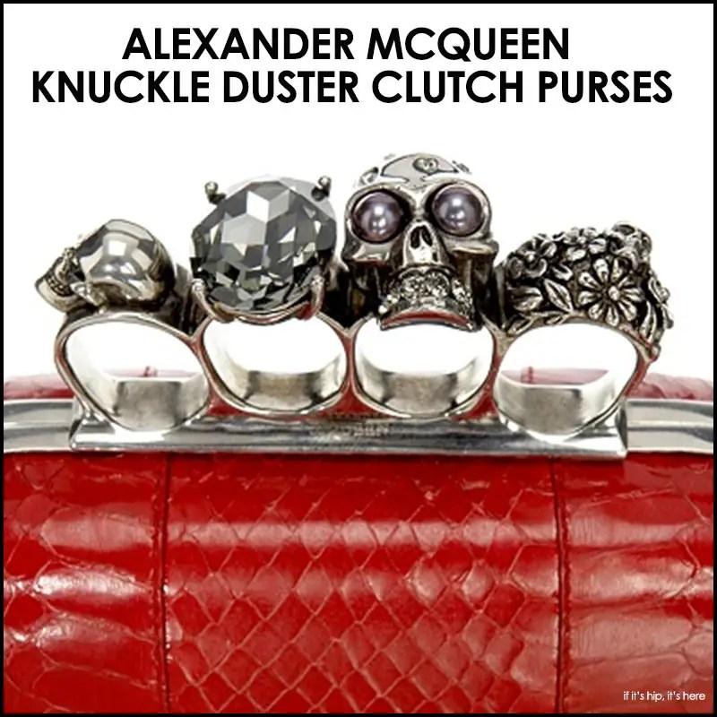 Alexander McQueen Knuckle Duster Clutch Purses