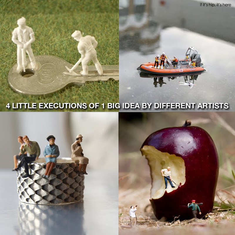 four artists who work in miniature