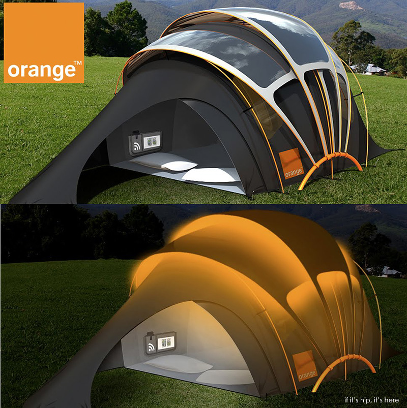 The Chill N Charge Solar Tent From Orange If It S Hip