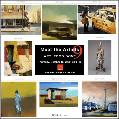 Read more about the article Meet, Greet, Eat & Ogle: Meet The Artists 9 at Sue Greenwood Gallery
