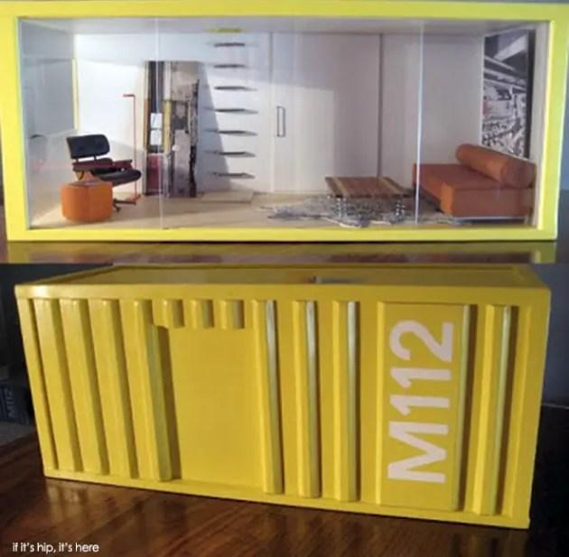 Container dollhouses by Paris Renfroe