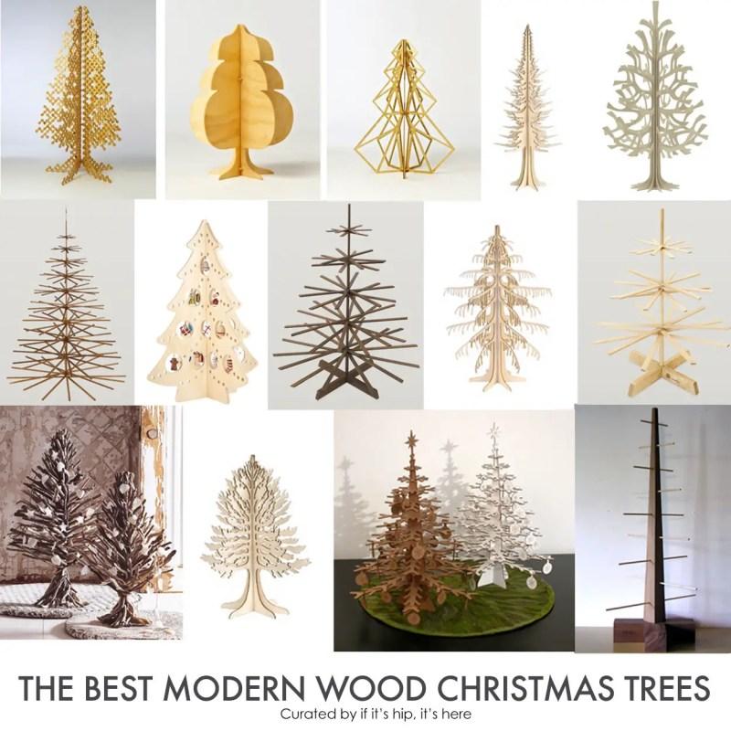 Modern wood Christmas Trees