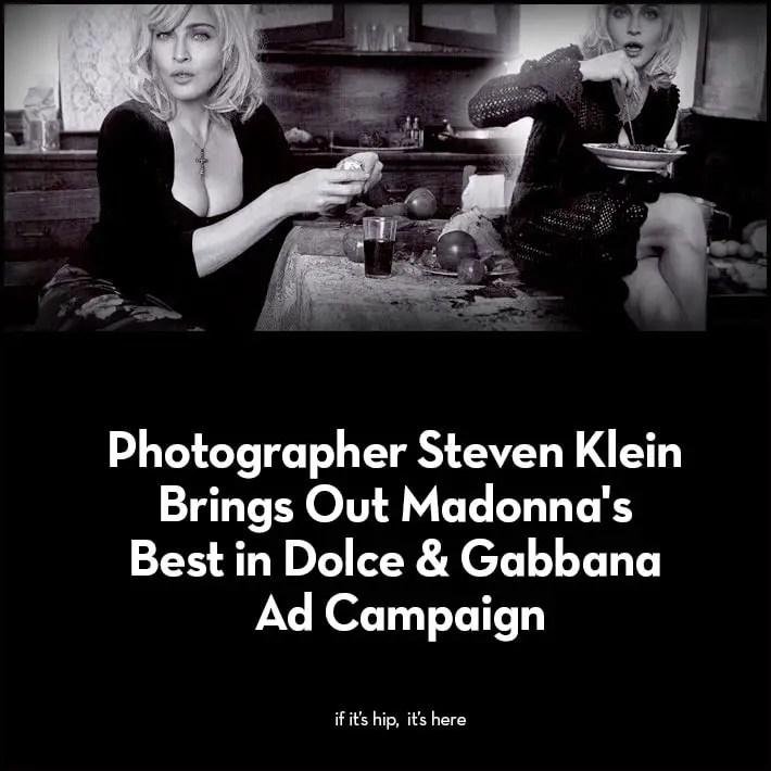 Madonna in 2010 Dolce & Gabbana Ad Campaign