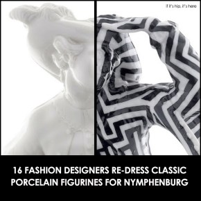 Classic Nymphenburg Porcelain Figurines Get Fashion Makeovers From 16 Designers.