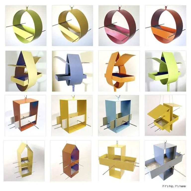 Joe Papendeck modern metal Bird houses