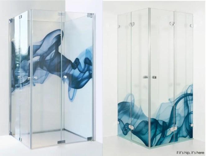 digitally printed glass shower doors