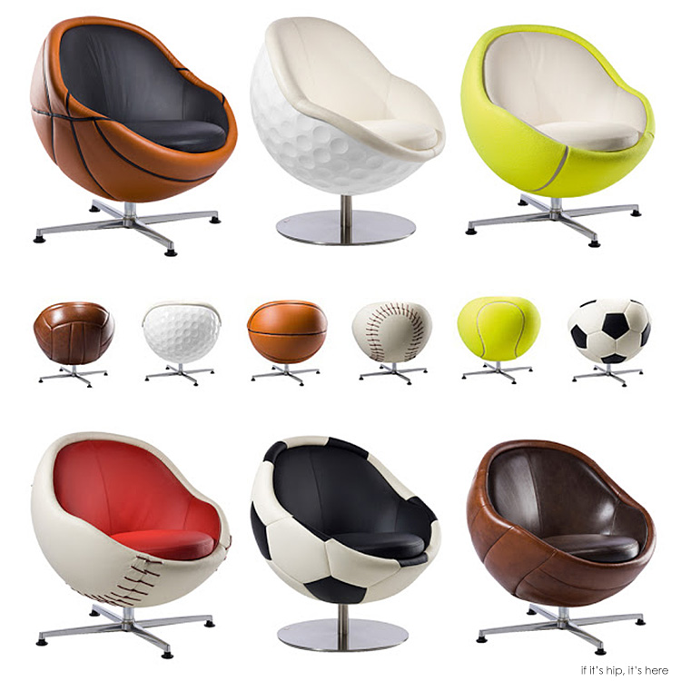 For The True Armchair Athlete Vip Sports Lounges And Ottomans By